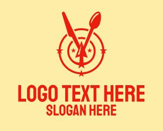 Spoon - Spoon Knife Watch logo design