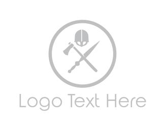 Axe - War Weapons logo design