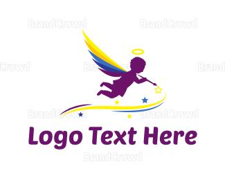 Cupid - Angel Painter logo design