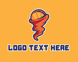 Basketball Coach - Basketball Tornado  logo design