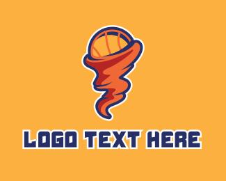 Basketball Tornado  logo design