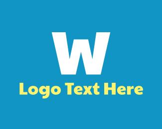 Childcare - Bold White W logo design