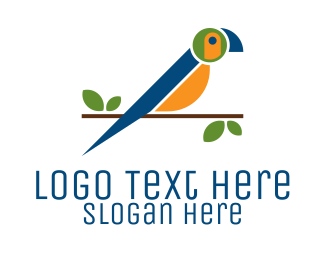 Macaw - Colorful Macaw Bird logo design