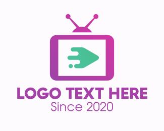 Tv Show - Media Television Screen logo design