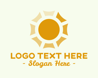 Heating - Golden Sun Panels logo design