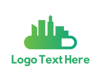 Green City - City Loading logo design