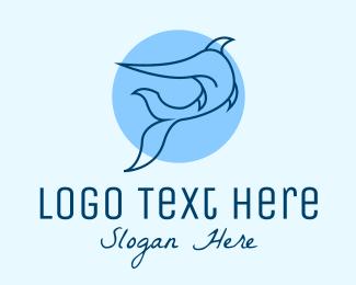 Ocean Park - Blue Swordfish Fish logo design