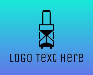 Air Travel - Time Travel logo design