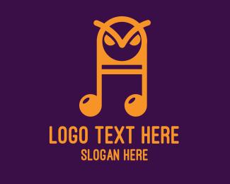 Angry Owl Music logo design