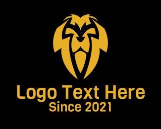 Gold Lion Heraldry logo design