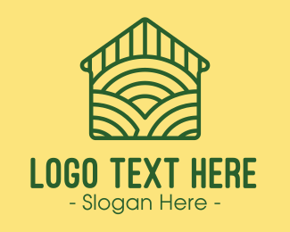 Household - Green Farm House logo design