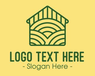 Farm - Green Farm House logo design