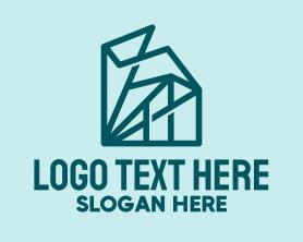 Buildings - Geometric Abstract Buildings logo design