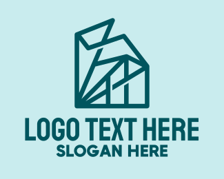 Geometric Abstract Buildings  logo design