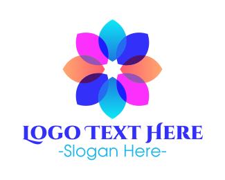 Fluorescent - Fluorescent Transparent Flower Petals logo design
