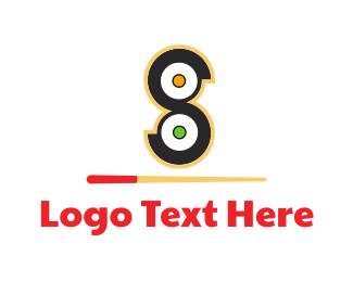 Chopsticks - Sushi Rolls logo design