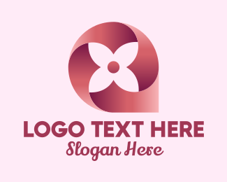 Four - Four Petal Flower  logo design