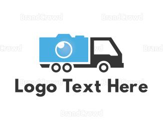 Distribution - Camera Truck logo design