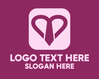 Human Resource - Purple Heart Necktie  logo design