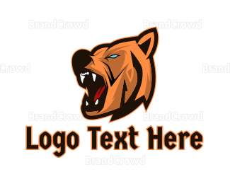 Carnivore - Berserk Bear Gaming logo design