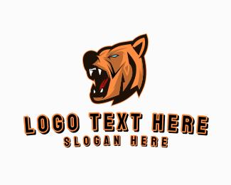 Grizzly - Berserk Bear Gaming logo design
