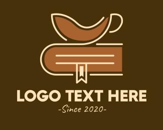 Roasted - Coffee Cup Bookmark logo design