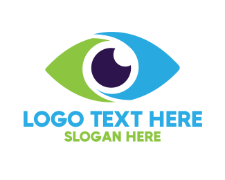Contact Lens - Optical Eye Vision Optometrist logo design