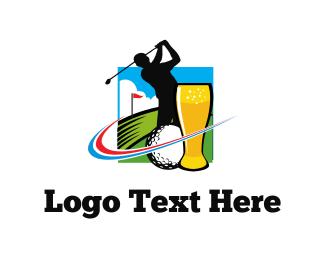 Course - Golf & Beer logo design