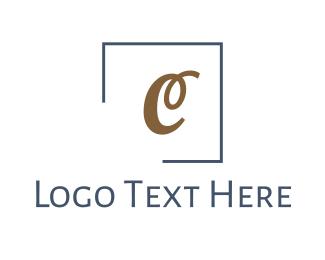 Cursive - Cursive Golden C logo design