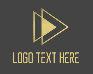 Play - Golden Triangles logo design