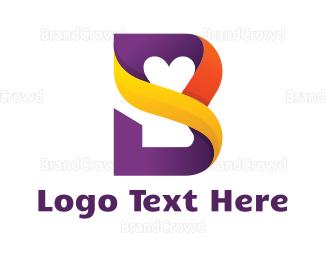 Barcelona - Romantic Letter B logo design