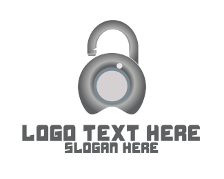 Lock And Key - Metal Lock Security  logo design