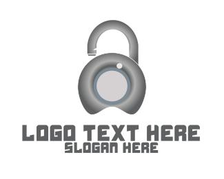 Secure - Metal Lock Security logo design