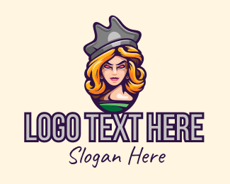 Character - Lady Pirate Character logo design