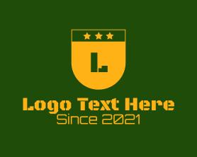 Text - Golden Military Letter logo design
