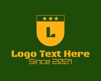 Military - Golden Military Letter logo design