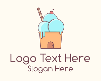 Ice Cream - Ice Cream House logo design