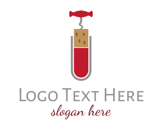 Science - Wine Science Corkscrew logo design