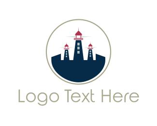 Beacon - Light House City logo design