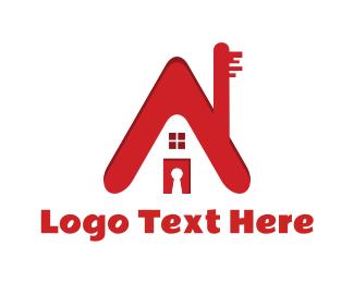 Key - House Key logo design
