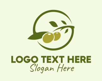 Olive - Green Olive Branch  logo design