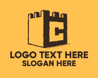 Barrack - Castle Letter C logo design