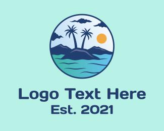 Coconut Tree - Coconut Tree Island logo design