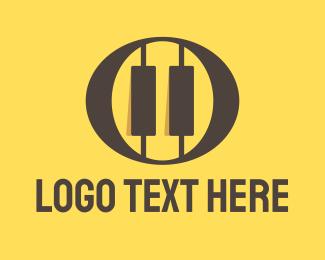 Piano - Oval Piano Keys  logo design