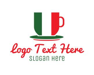 Italian Restaurant - Italian Coffee Cafe logo design