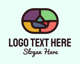 Church - Colorful Mosaic Decor logo design