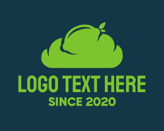 Atmosphere - Green Lime Cloud logo design
