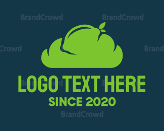 Cloud Drive - Green Lime Cloud logo design