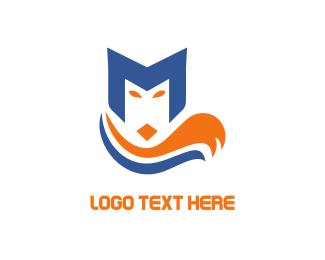 Tail - Letter M Fox logo design