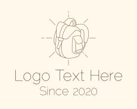 Hiking - Camping Bag Backpack logo design